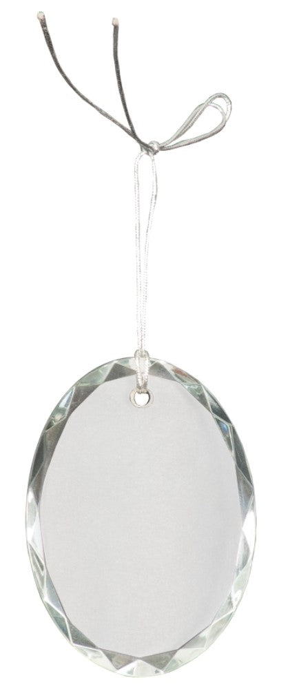 Crystal Ornament-Oval