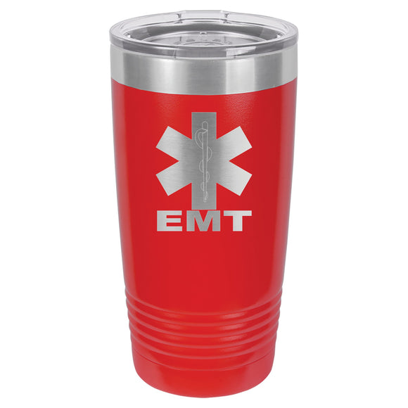 Emergency Medical Technician (EMT) Tumbler 20 oz. - 18 color options