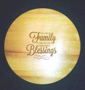 Family Blessings Lazy Susan