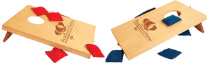 Mini Wood Bag Toss Game with 4 Red & 4 Blue Bags