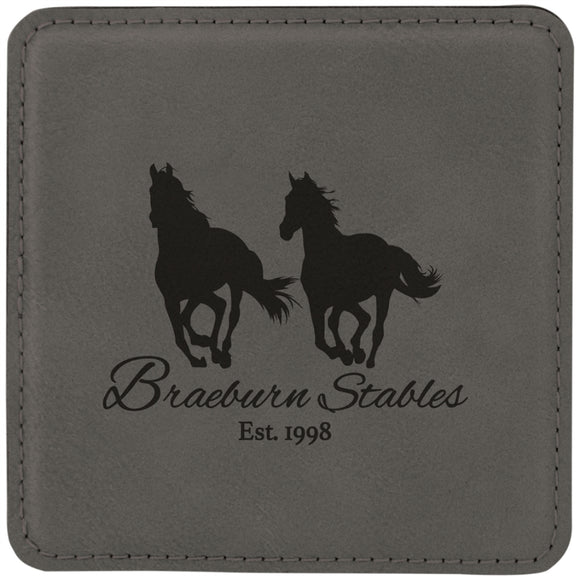 Gray Square Coaster