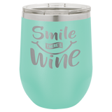 Insulated 12 oz Stemless Wine Cup - 14 colors available