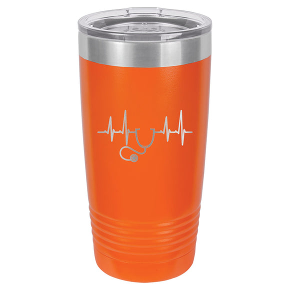 Heartbeat of Healthcare Tumbler  20 oz. - 18 color options