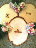 Rustic Engraved Tree Slice for Guest Sign In with FREE PERSONALIZATION