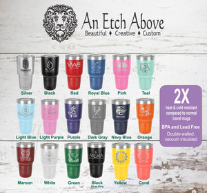 Insulated 30 oz Tumbler - Now 18 colors available