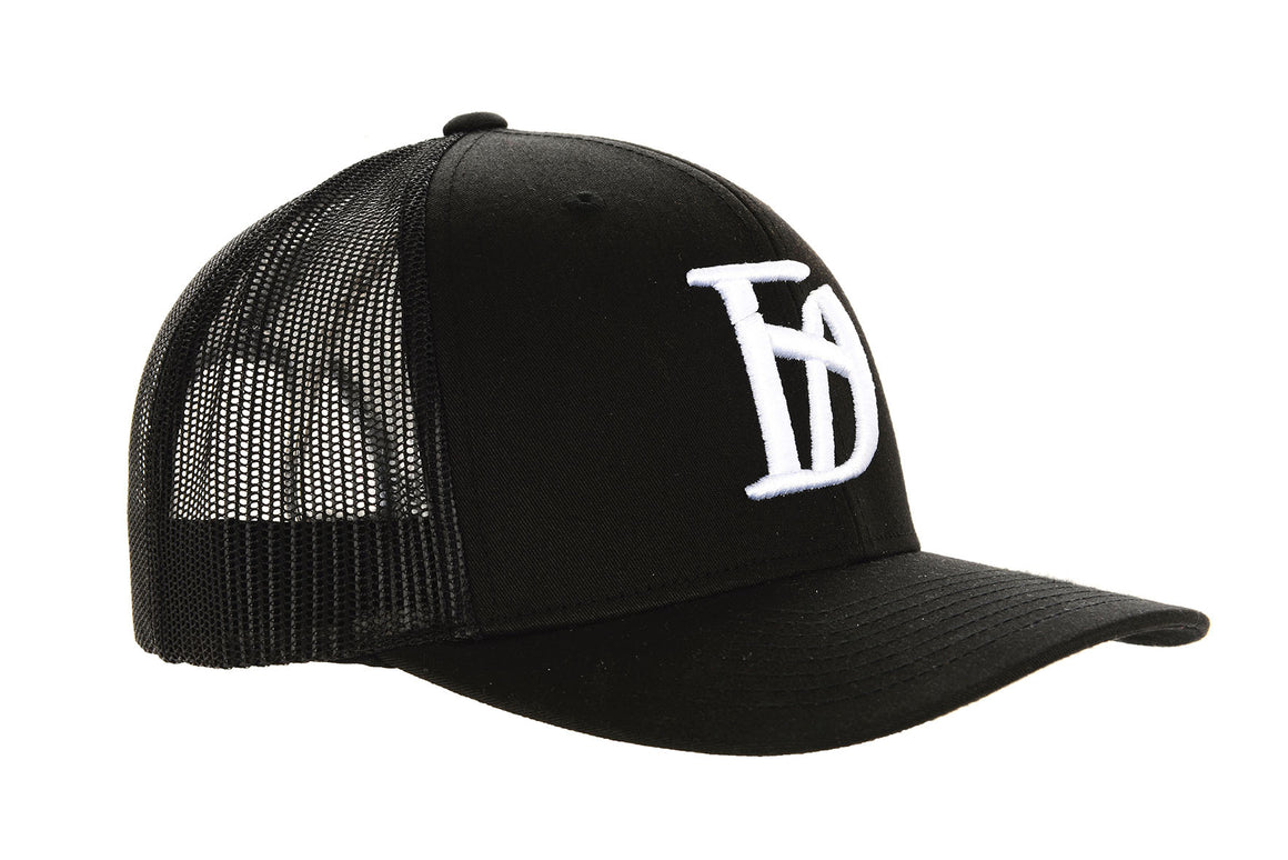 "Black ""D Logo"" Cap - Destruct Clothing"