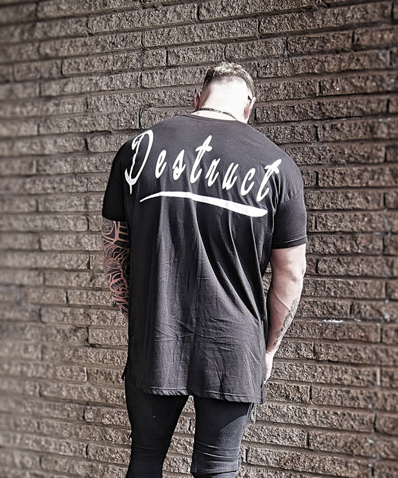 Black Longline T-Shirt - Destruct Clothing