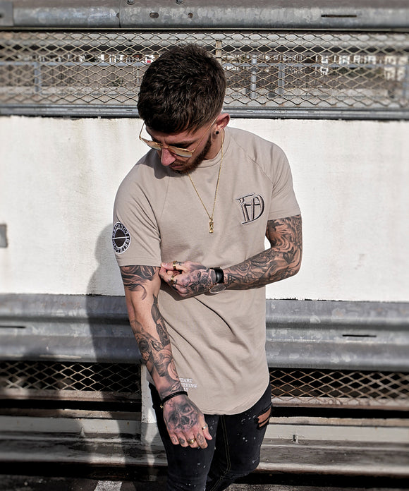 Sandstone Signature Fitted T-Shirt - Destruct Clothing