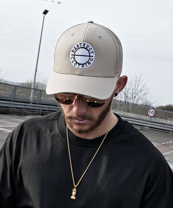 "Beige ""Round Logo"" Cap - Destruct Clothing"