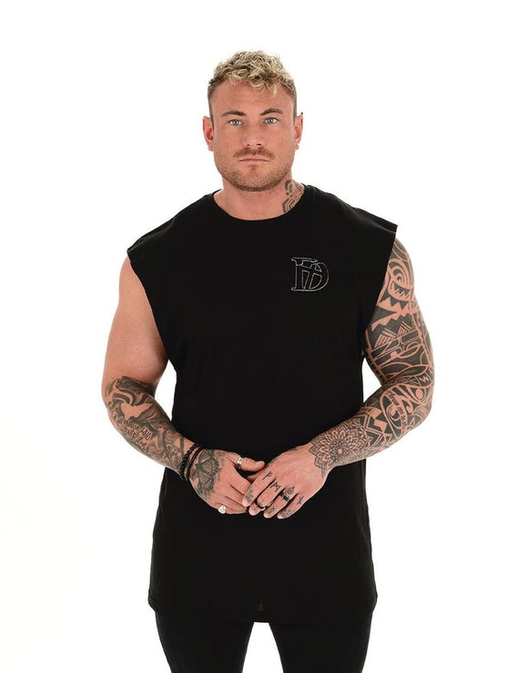 Black Original Sleeveless T-Shirt - Destruct Clothing