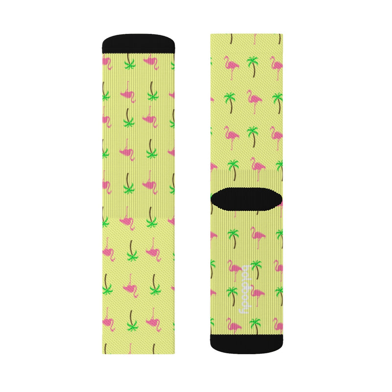 Palms & Flamingos Socks