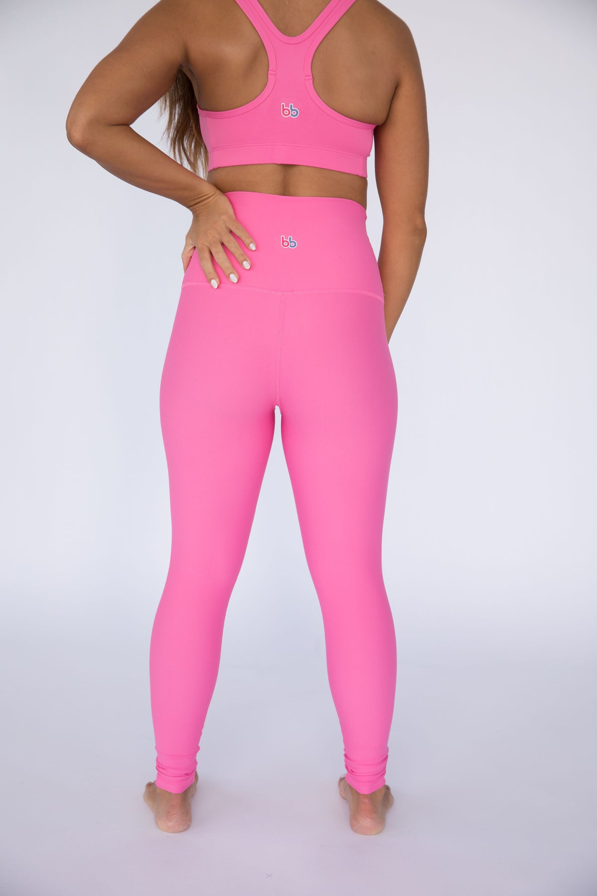 Pink Cockatoo Solid High Waisted Leggings