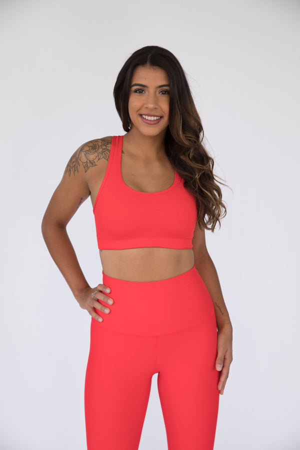 Candy Apple Red Performance Sports Bra