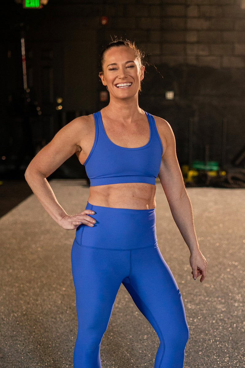 Periwinkle Blue Performance Sports Bra