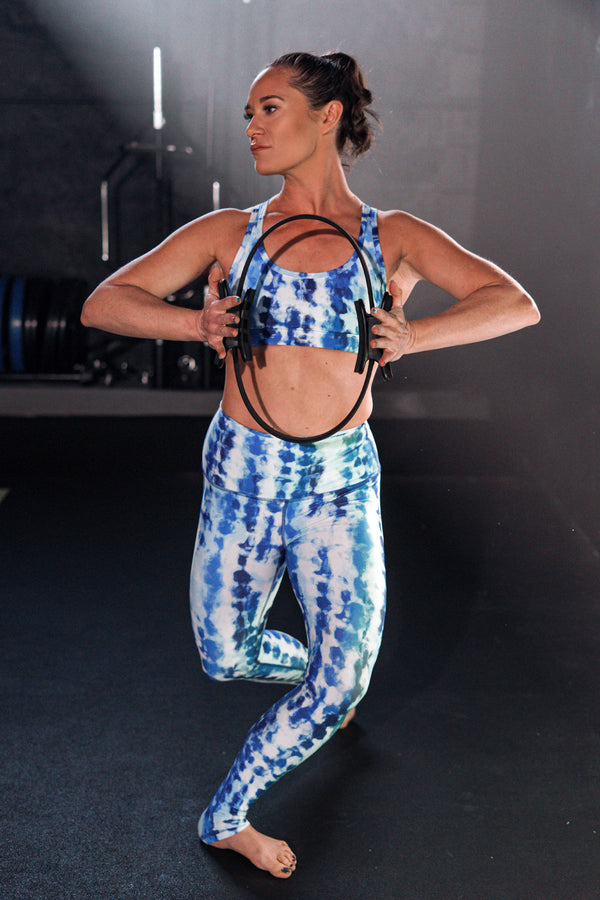 Blue Sky Tie Dye High Waisted Leggings
