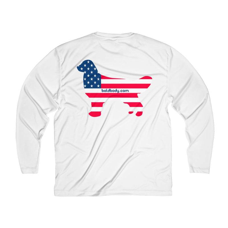 Dog Bless America Men's Long Sleeve Sun Tee