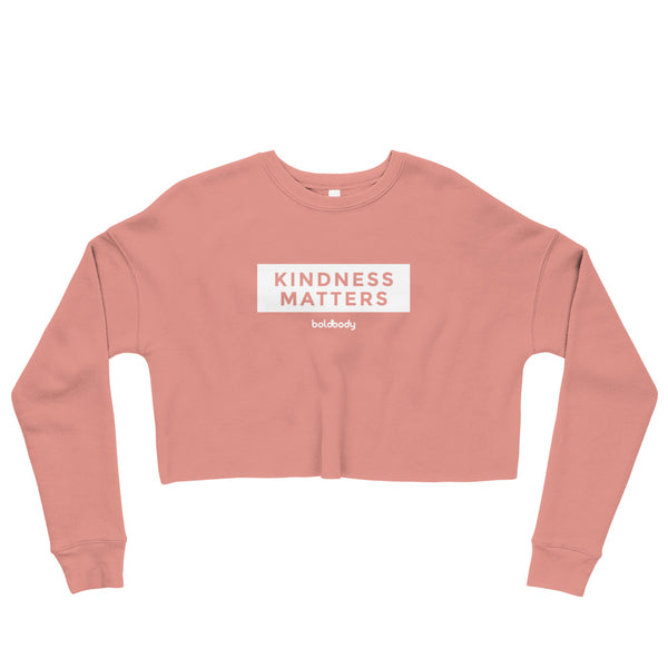 Kindness Matters Crop Sweatshirt