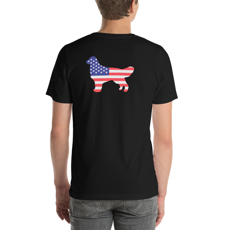 Dog Bless America Short-Sleeve Unisex T-Shirt