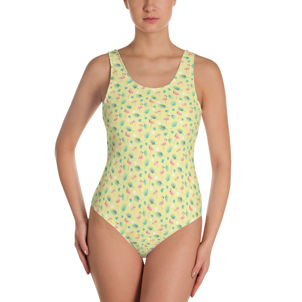 Flamenco Flamingos One-Piece Swimsuit