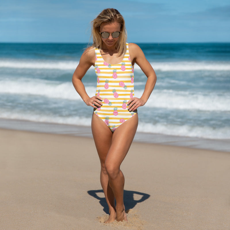Pink Piña One-Piece Swimsuit