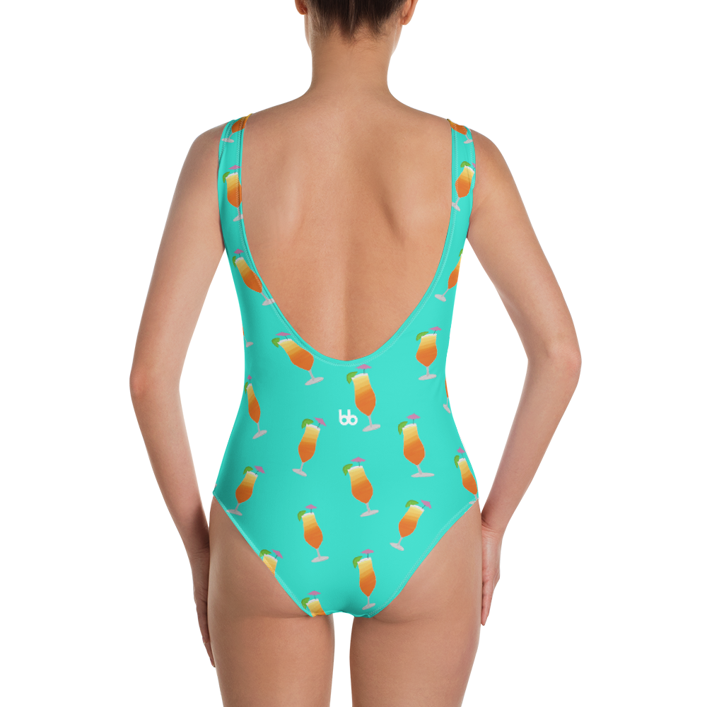 It's 5 O'Clock Somewhere One-Piece Swimsuit