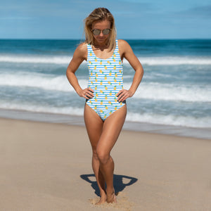 Blue Piña Party One-Piece Swimsuit
