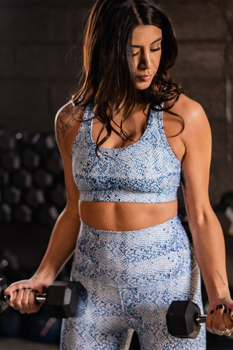 Snakeskin Performance Sports Bra