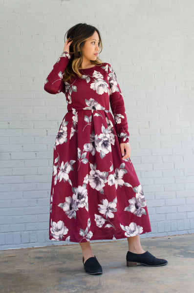 BLOSSOM FLORAL MIDI DRESS