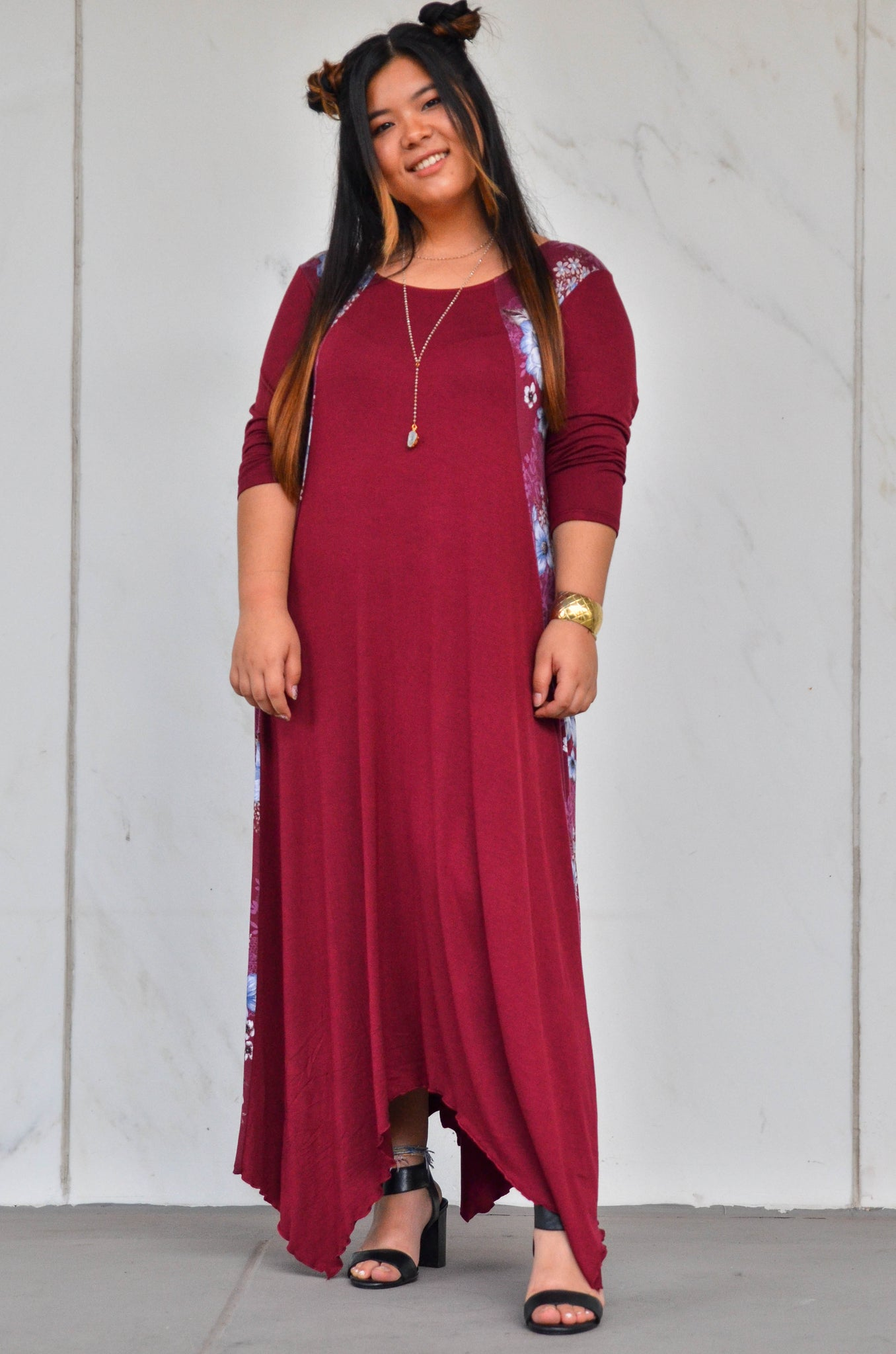 BLAZING BERRY MAXI DRESS