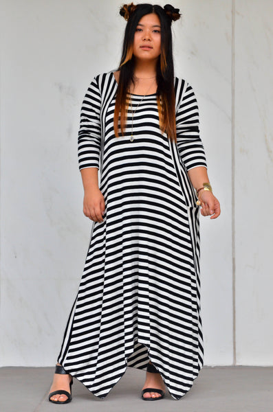 STRIPED ASTER MAXI DRESS