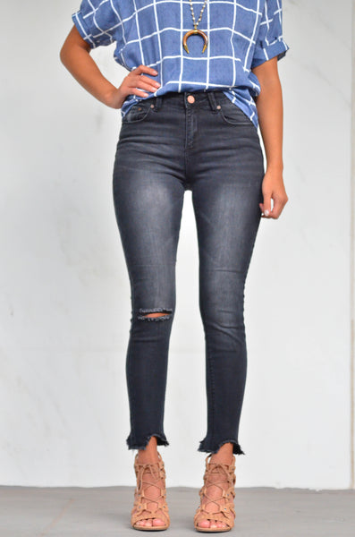 CHARCOAL INK BERRY JEANS
