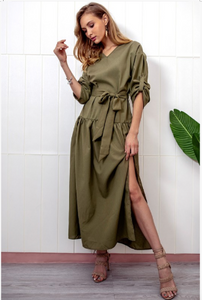 THE VENICE DRESS IN OLIVE