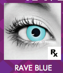 Blue Rave Halloween Contact Lenses