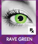 Green Rave Halloween Contact Lenses
