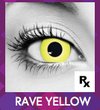 Yellow Rave Halloween Contact Lenses