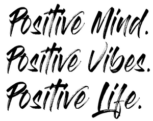 Positive Mind Positive Vibes Positive Life Graphic Little Red Mare