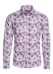 Modern Fit Floral Long Sleeve Dress Shirt STYLE #2101