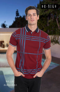MEN'S T- SHIRT NK107 BURGUNDY