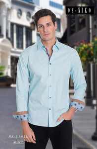 Men's Shirt NK1102L Mint