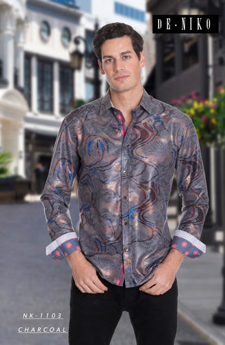 MEN'S SHIRT NK1103 CHARC