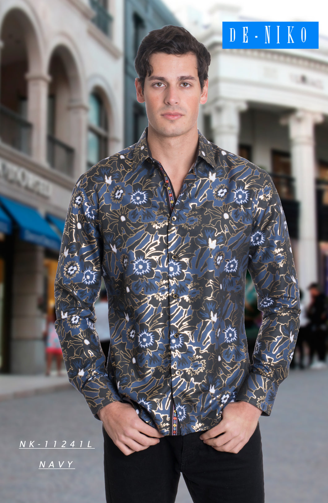 Men's Shirt NK11241L NAVY