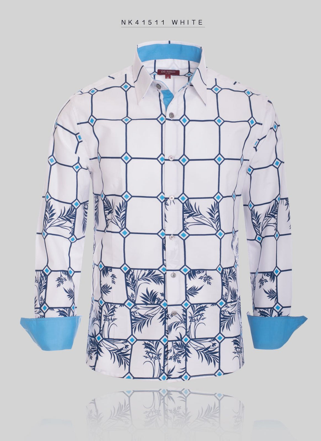 Button Up Dress Shirt Pattern STYLE # NK41511