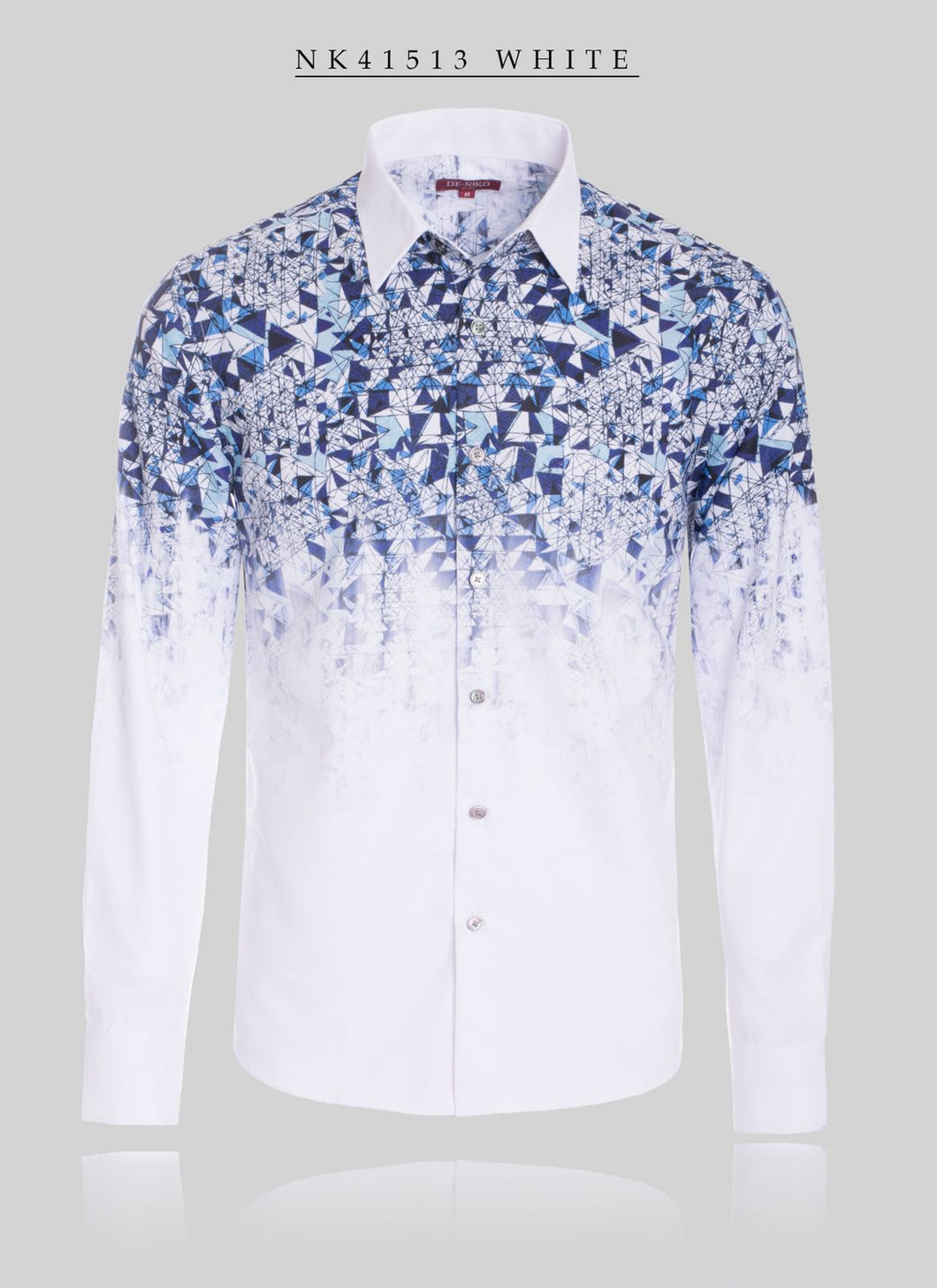 Overlapping Fading Pattern Dress Shirt STYLE#NK41513