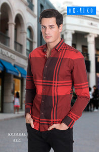 Men's Shirt NK9004L RED