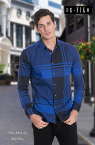 MEN'S SHIRT NK9004L ROYAL BLUE