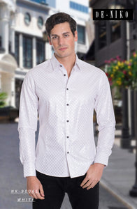 MEN' SHIRT NK9006L WHITE