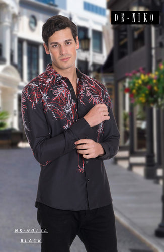 MEN'S SHIRT NK9015L BLACK
