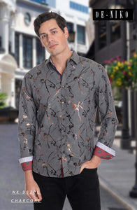 MEN'S SHIRT NK9020L CHARC