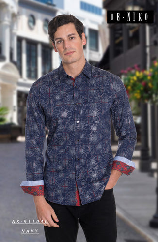 MEN'S SHIRT NK1104L NAVY