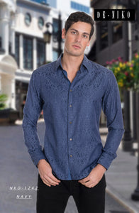 Men's shirt NKO-1242  NAVY